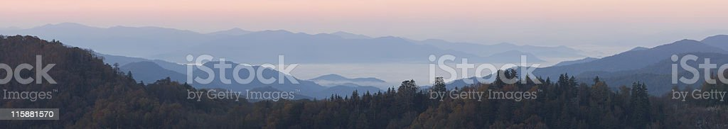 Clouds Beneath Smoky Peaks (57 MP) royalty-free stock photo
