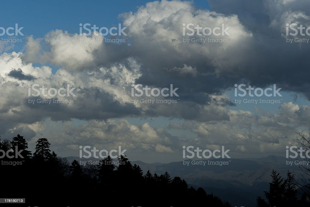 Clouds & Blue Sky in Great Smoky Mtns NP royalty-free stock photo