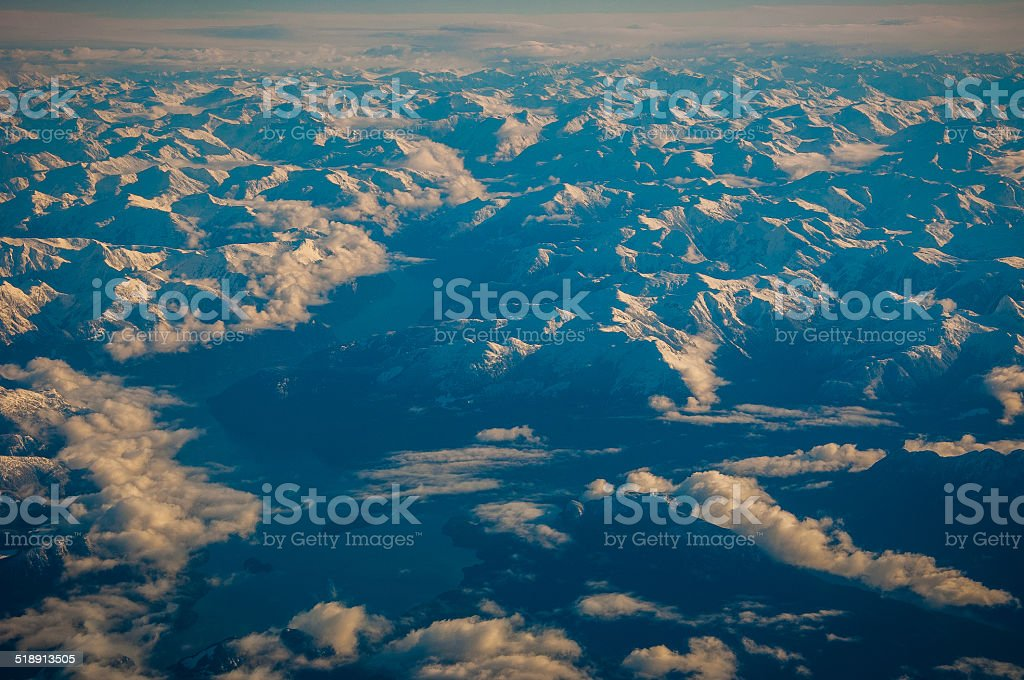 Clouds British Columbia The Planet from above the Clouds stock photo