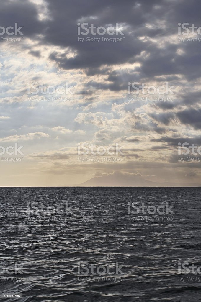 Clouds drawing in royalty-free stock photo