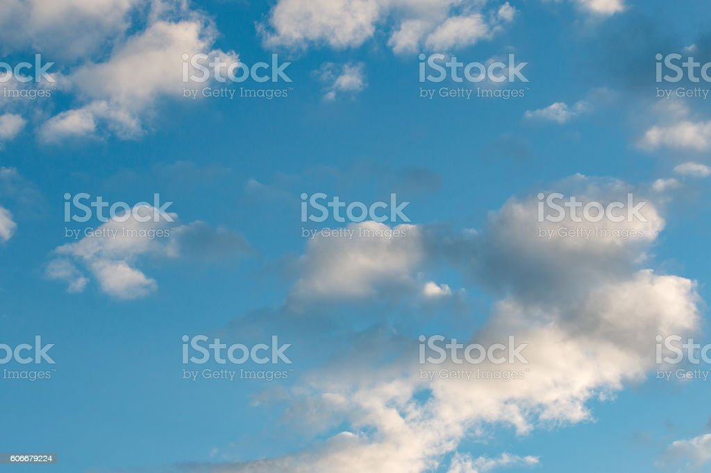 clouds floating in the blue sky stock photo