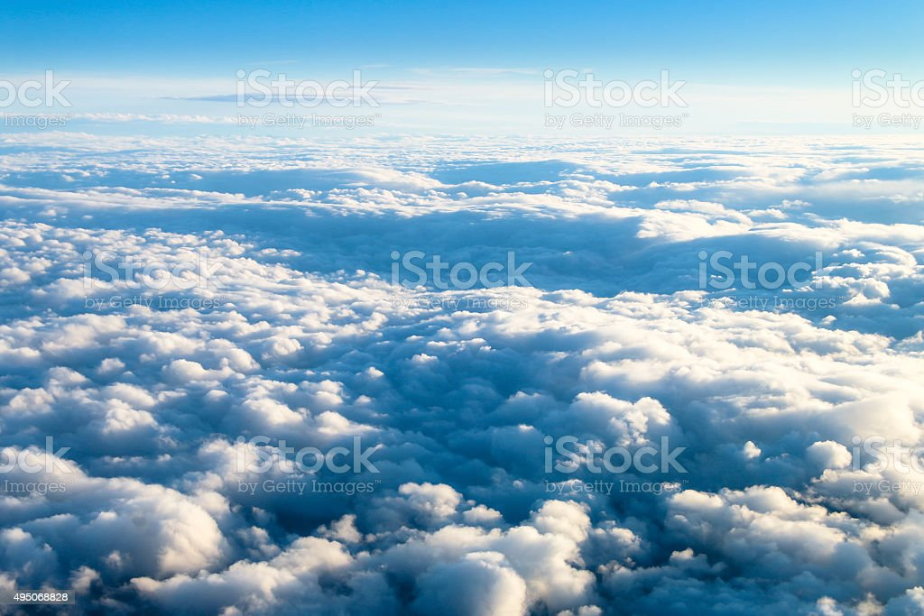 Clouds from above 1 stock photo