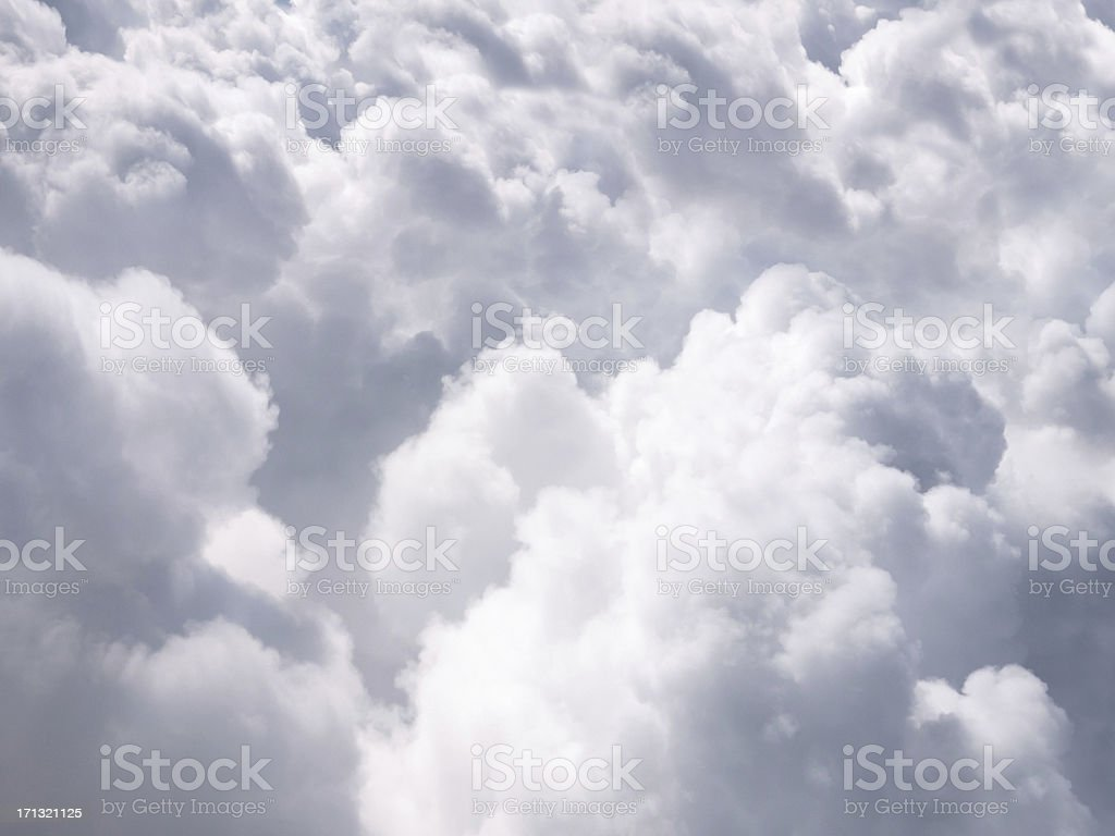 Clouds From Above Background royalty-free stock photo