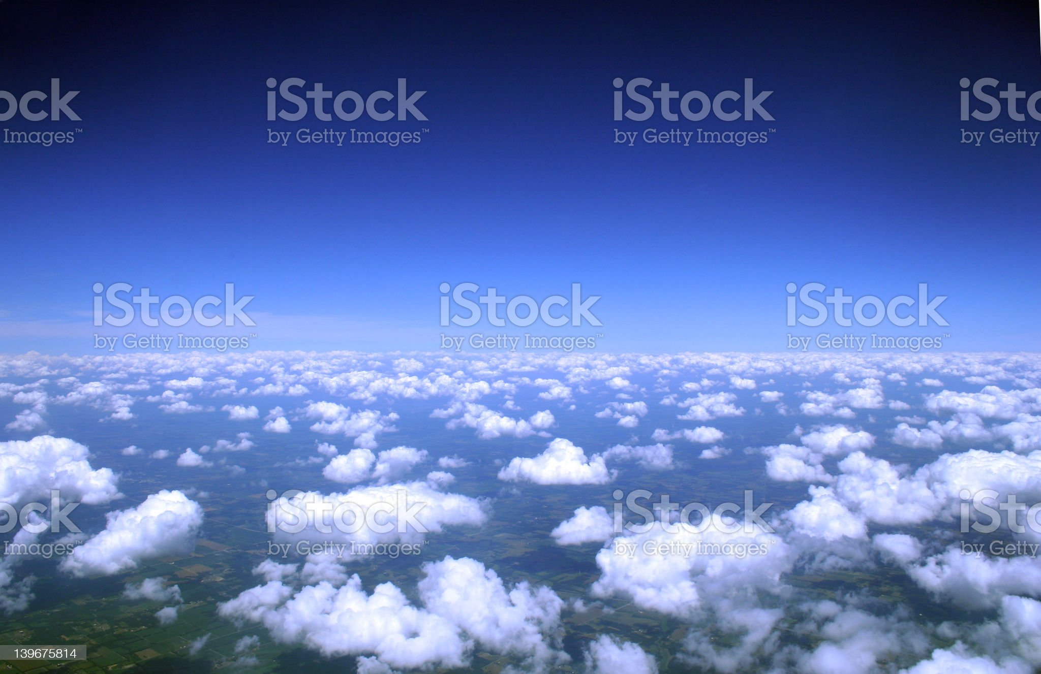 Clouds from above… royalty-free stock photo