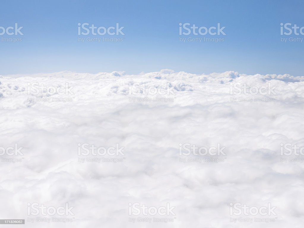 Clouds from Airplane royalty-free stock photo