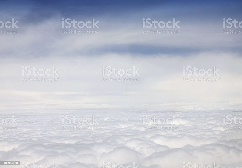 Clouds from an airplane royalty-free stock photo
