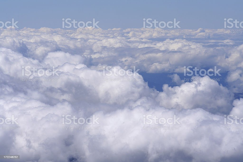 clouds from mountaintop Mont Blanc royalty-free stock photo
