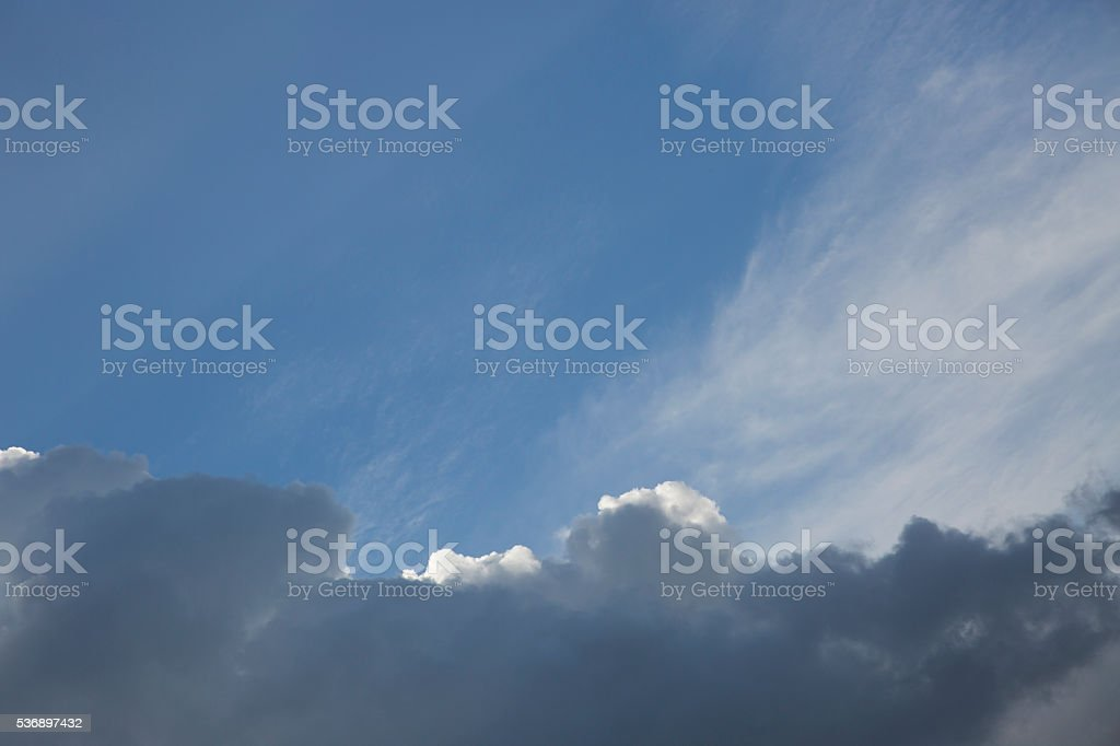 Clouds from the plain view stock photo
