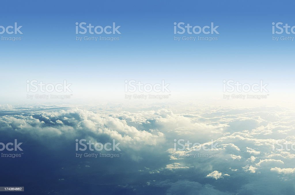 Clouds from the top stock photo