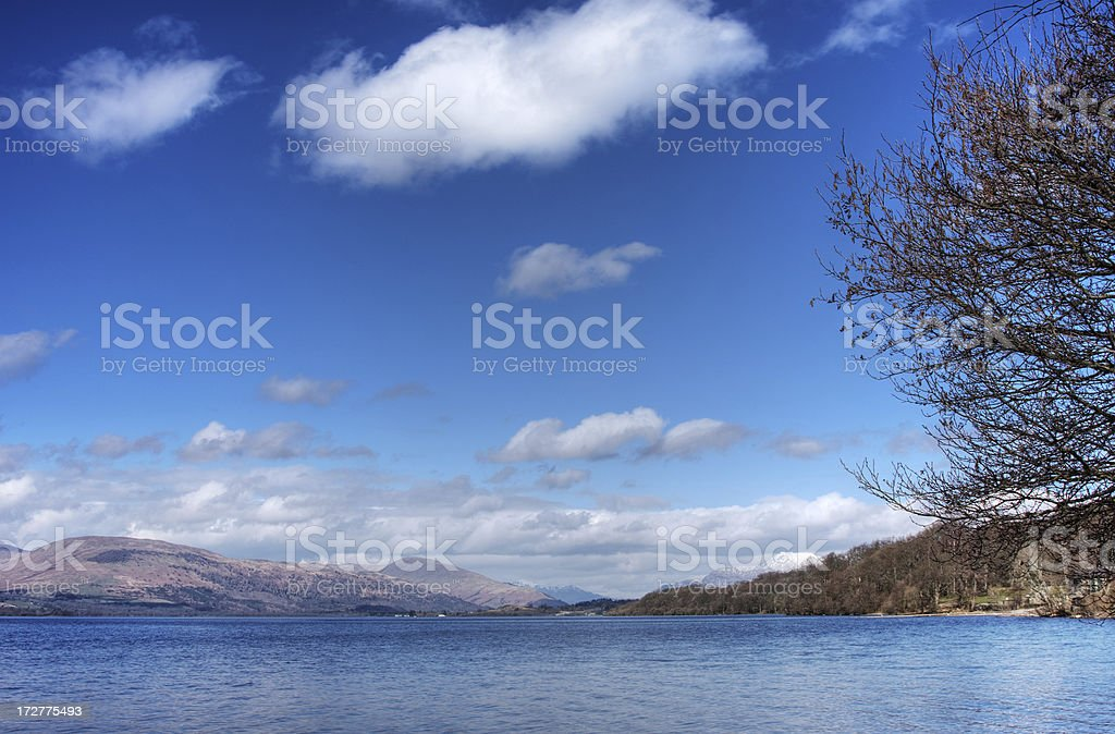 Clouds Gathering Over Loch Lomond royalty-free stock photo