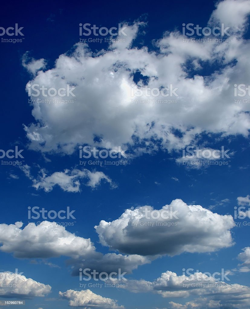 clouds in a blue sky royalty-free stock photo