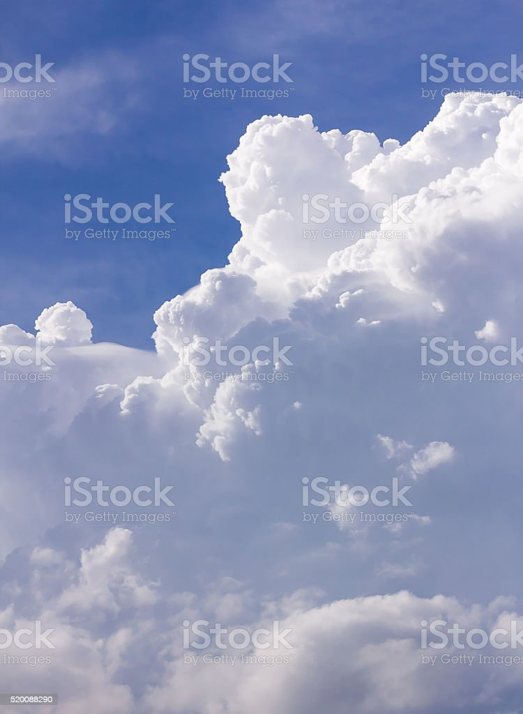 Clouds in blue sky before rain stock photo