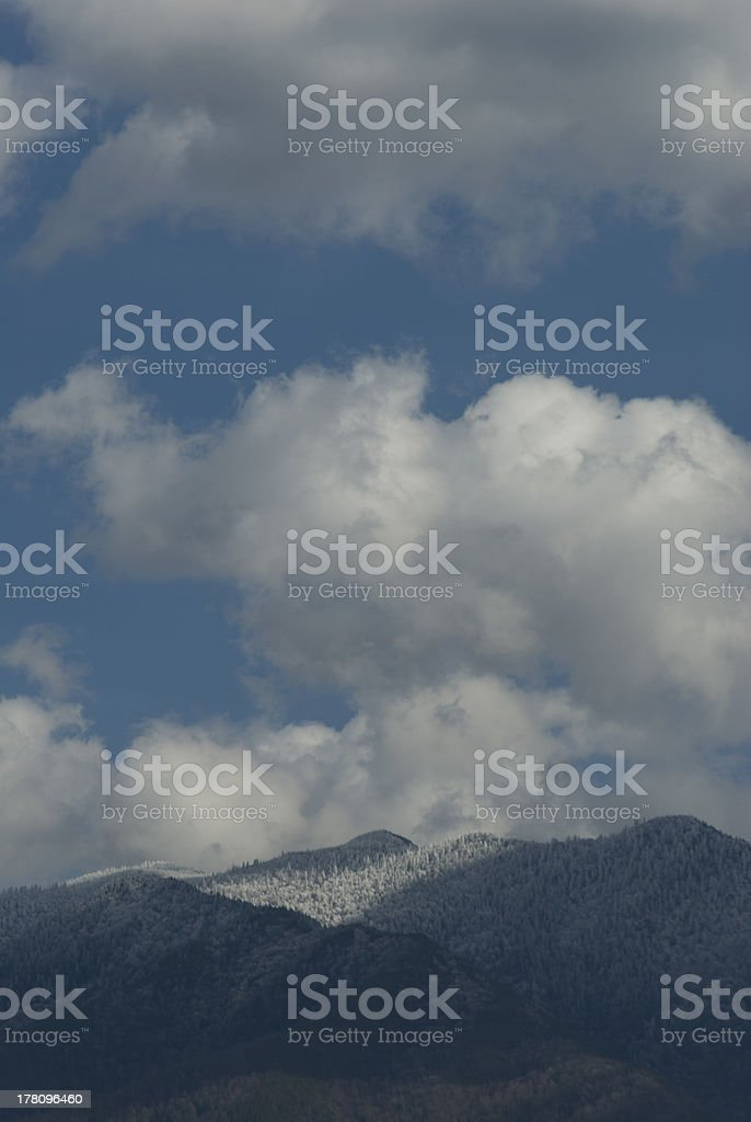 Clouds in Blue Sky over Mt. LeConte royalty-free stock photo