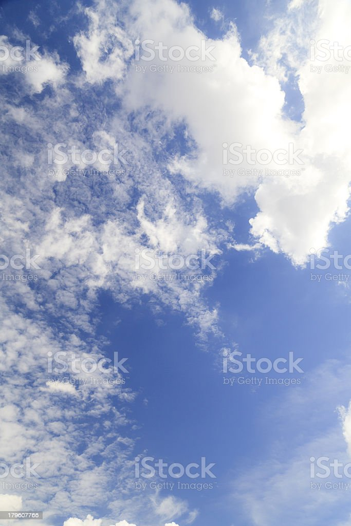 Clouds in blue sky royalty-free stock photo