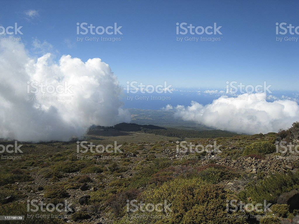 Clouds in Haleakala 2 royalty-free stock photo
