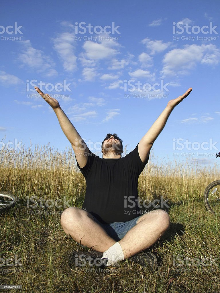 clouds in hands royalty-free stock photo