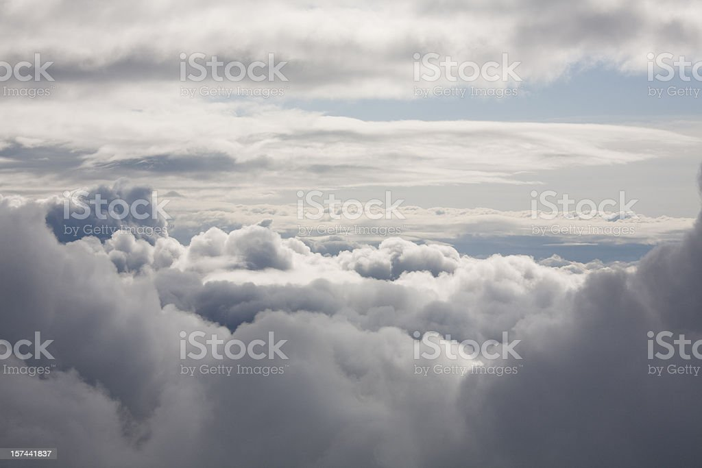 Clouds in Heaven, view from within the cloud stock photo