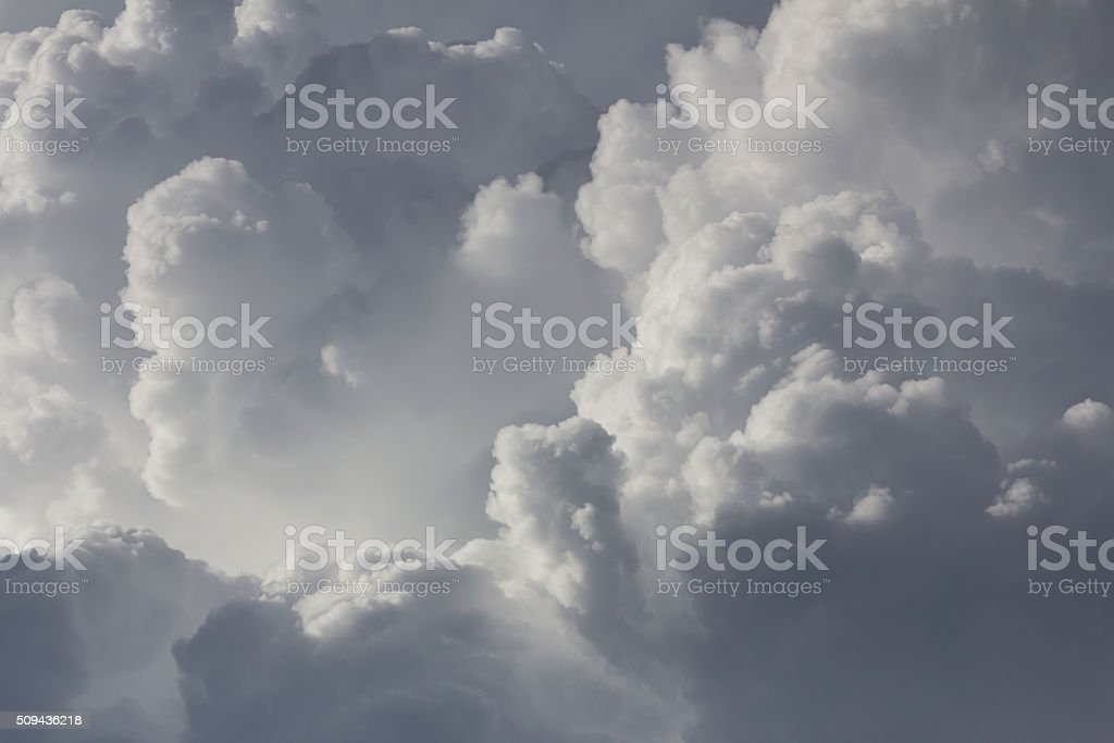 Clouds in sky before rain stock photo