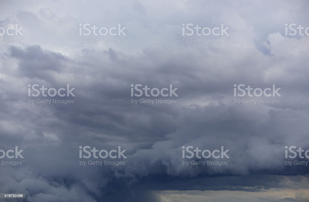 Clouds in storm stock photo