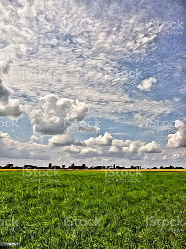 Clouds in summer royalty-free stock photo