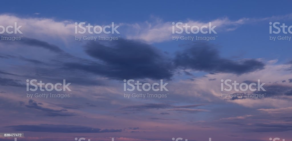 clouds in sunset stock photo