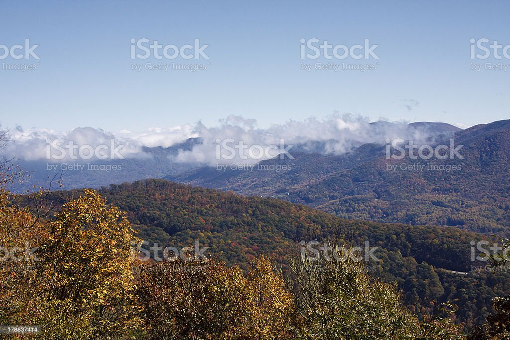 Clouds in the Mountains royalty-free stock photo