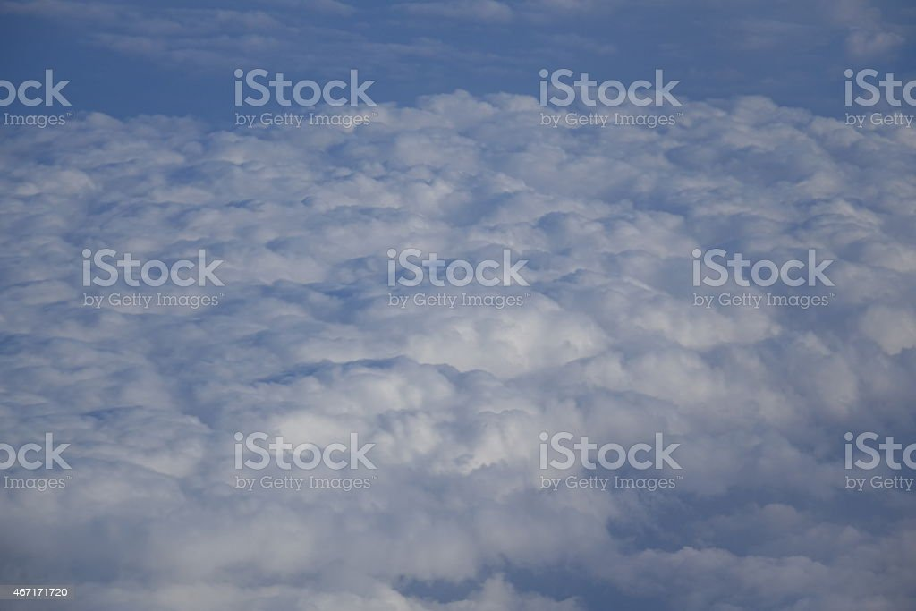clouds in the sky vector art illustration