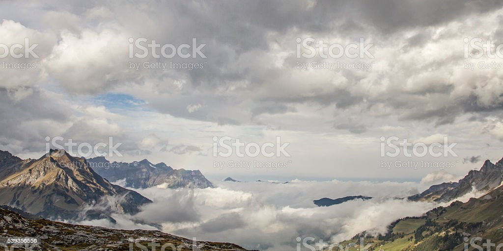 clouds mood stock photo