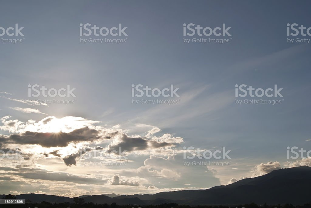 Clouds obscured the sun royalty-free stock photo