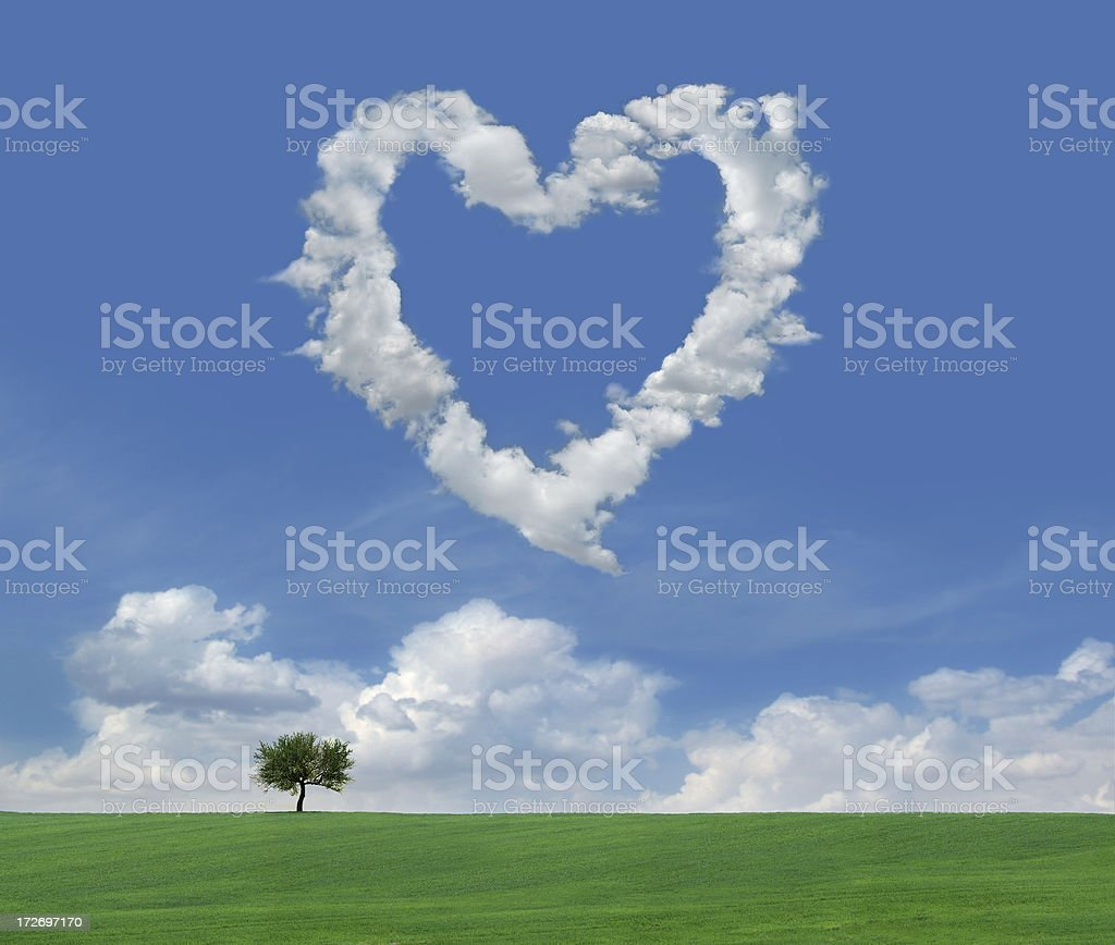 Clouds of Love 4 royalty-free stock photo