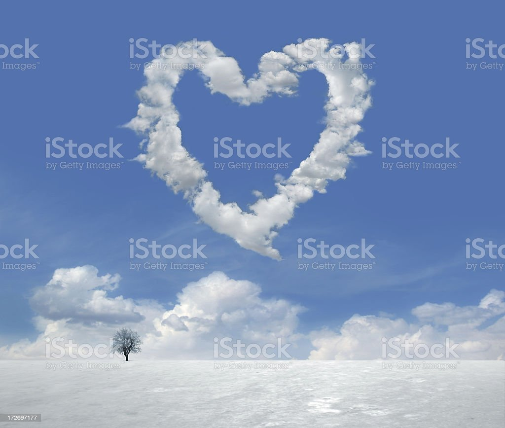 Clouds of Love 5 royalty-free stock photo