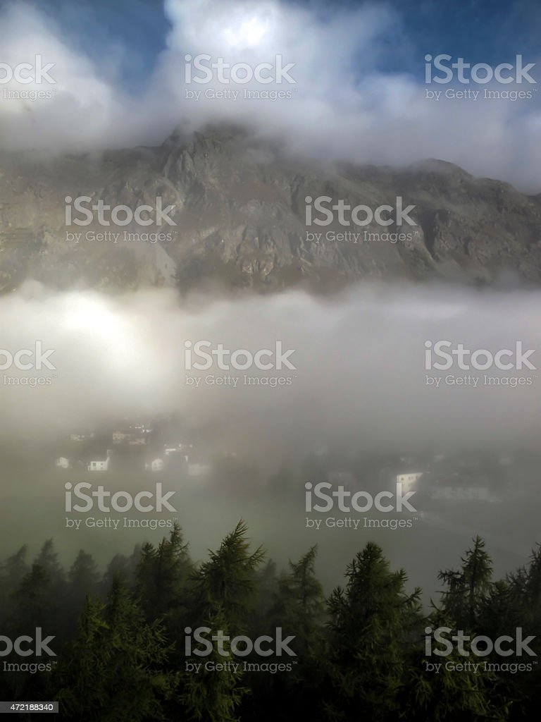 Clouds of Sils Maria stock photo