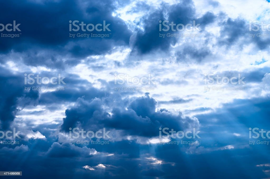 clouds of the sky stock photo
