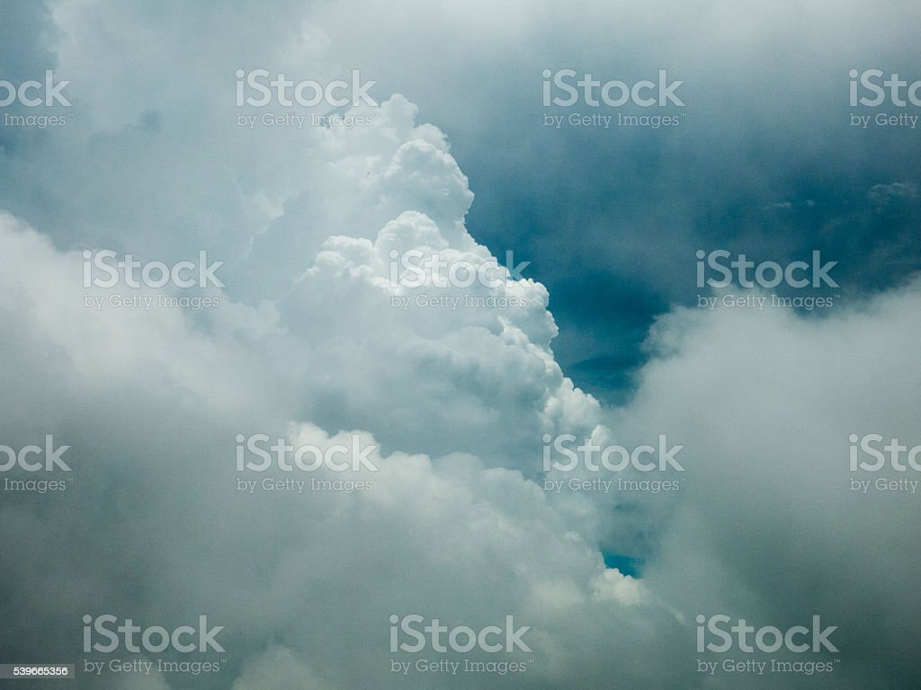 Clouds on Blue Sky Background stock photo
