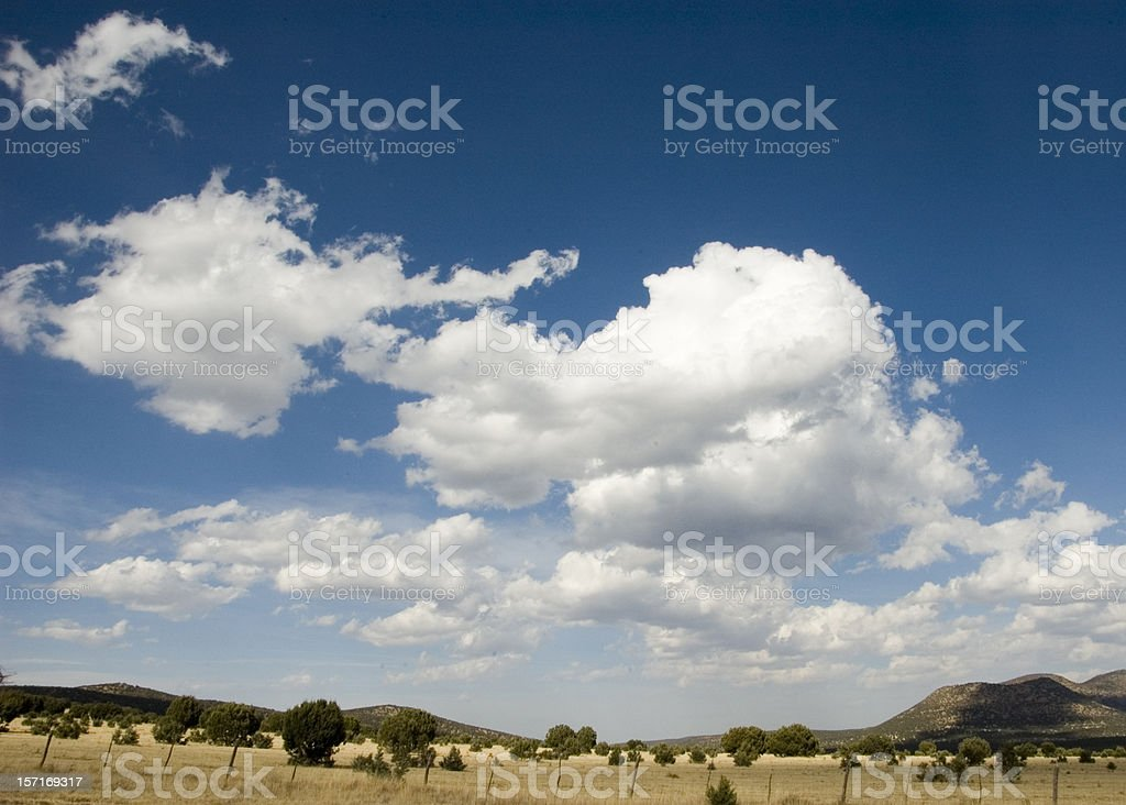Clouds on Blue Texas Sky stock photo
