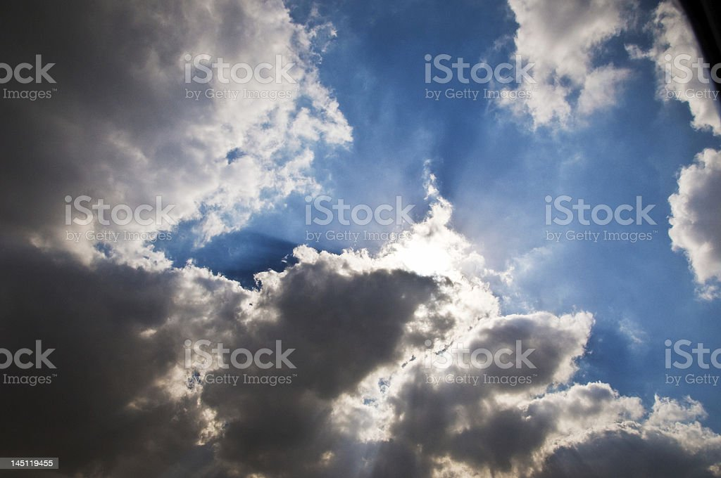 Nuvens no céu foto royalty-free