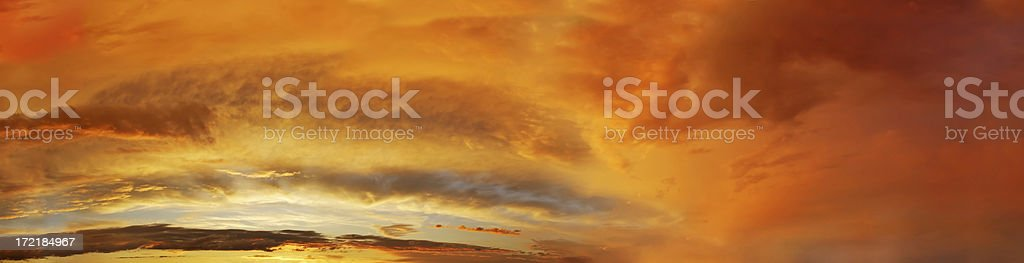 Clouds on sky - sunset panorama royalty-free stock photo