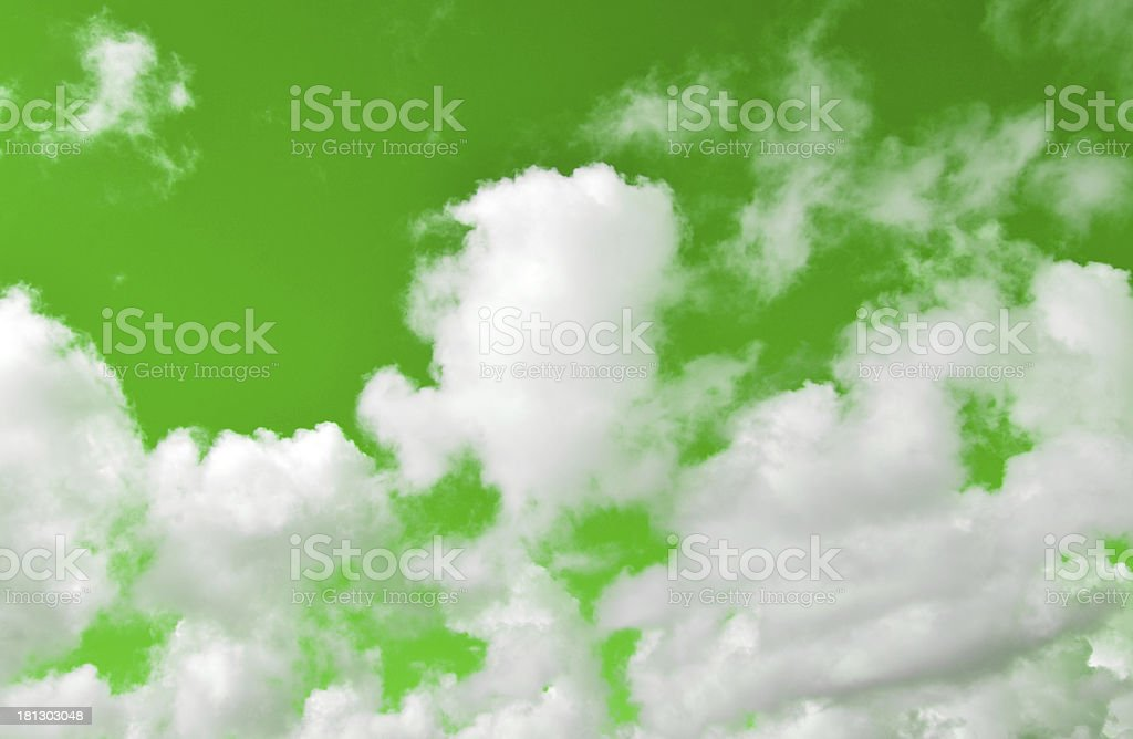 Clouds on the green royalty-free stock photo
