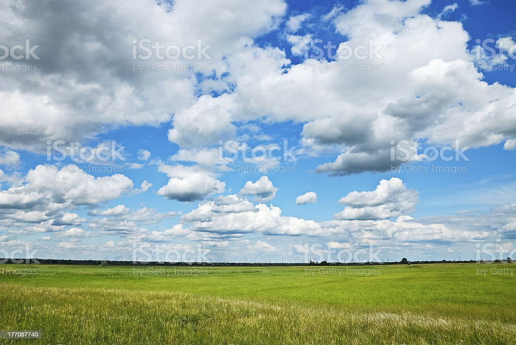 Clouds on the heath royalty-free stock photo