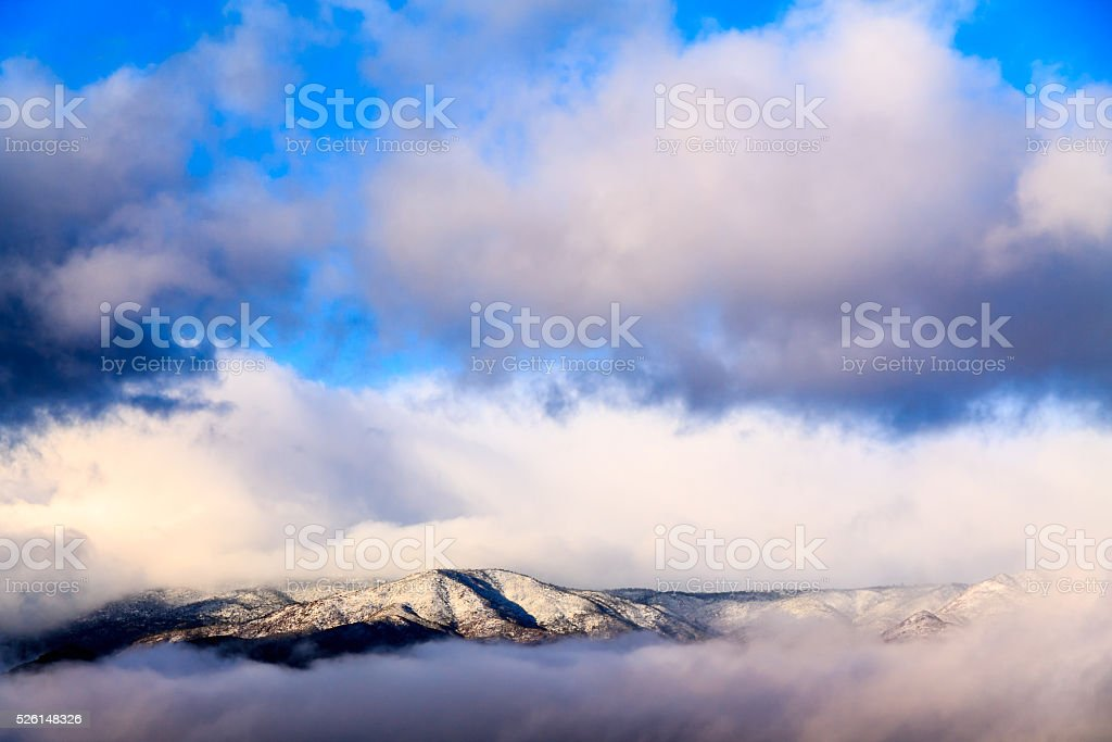 Clouds on the Mogollon Rim Plateau stock photo