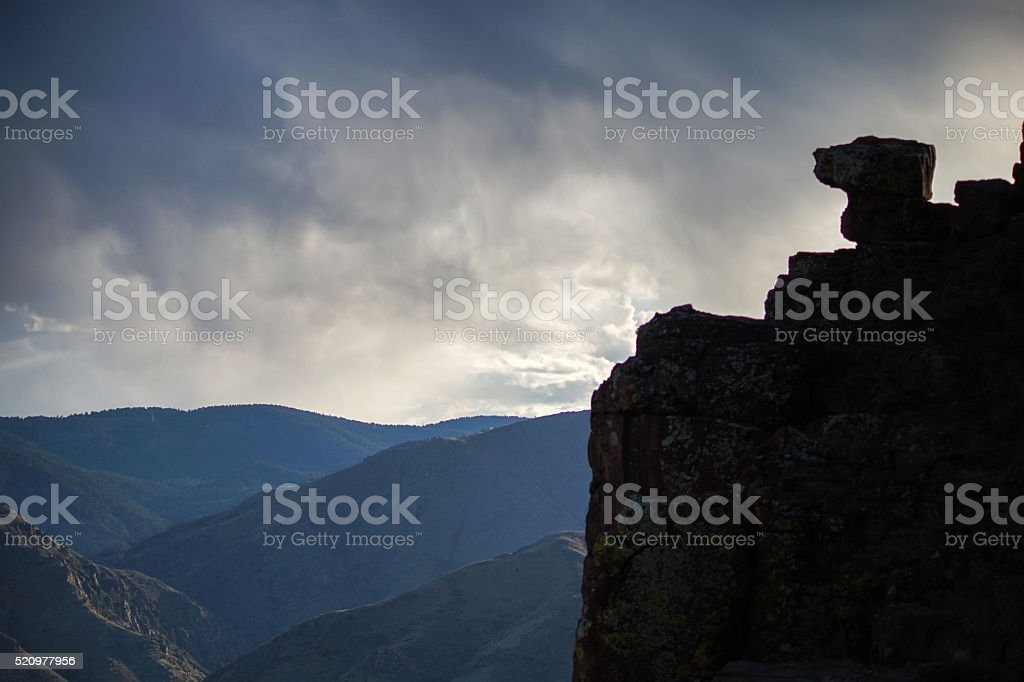 Clouds on the Rocks stock photo