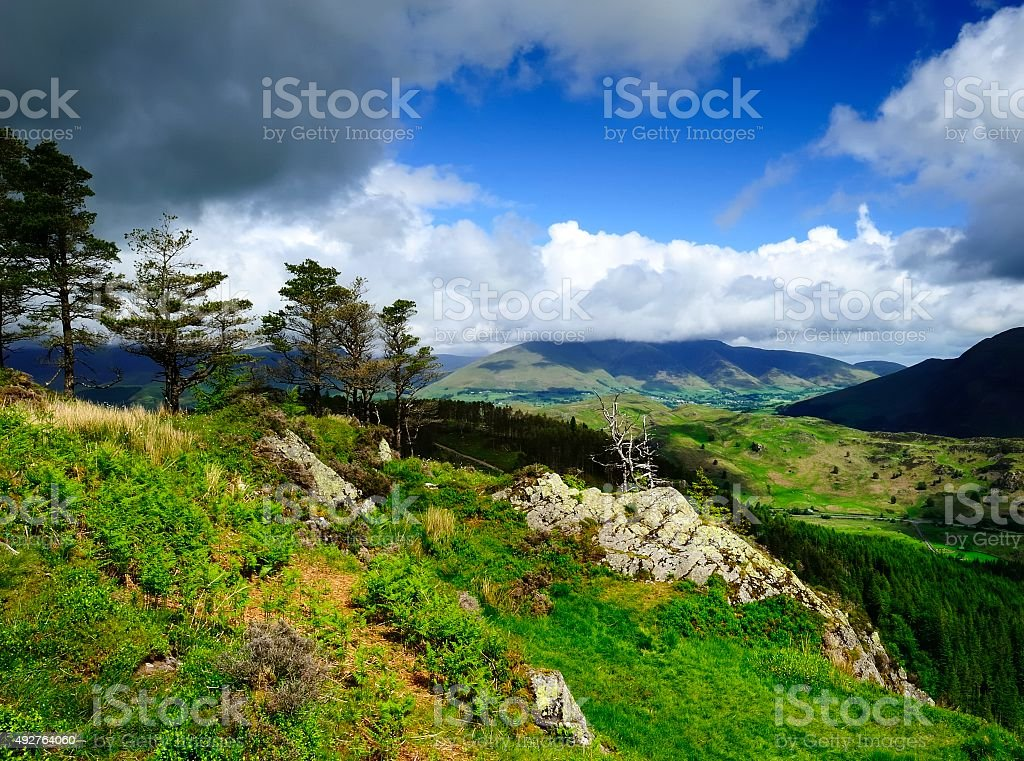 Clouds over Blencathra stock photo