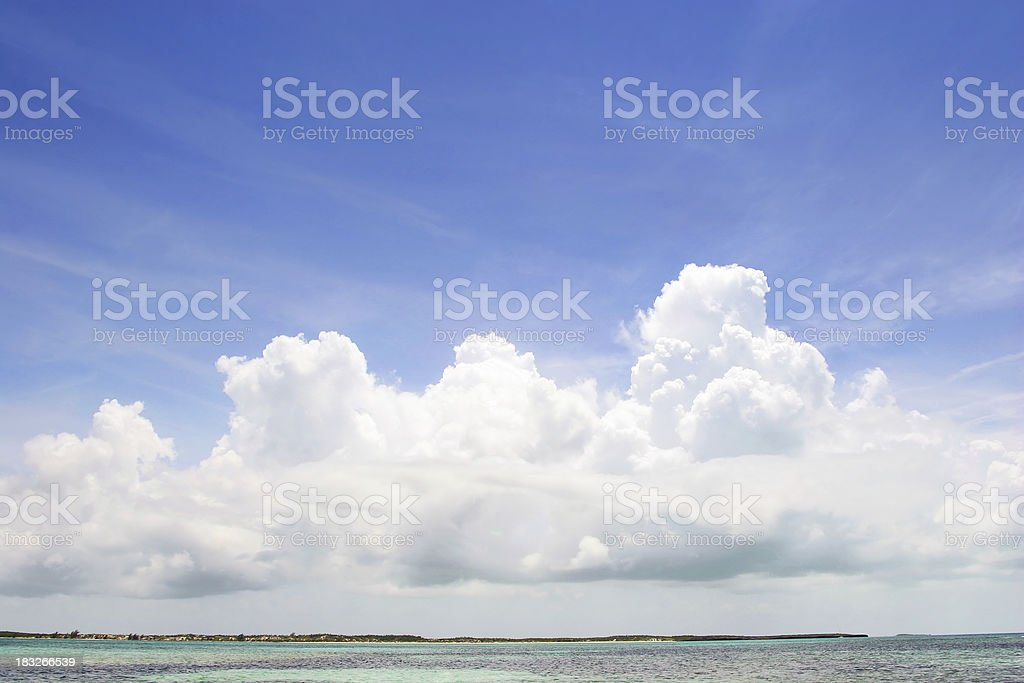 Clouds over Cuba royalty-free stock photo