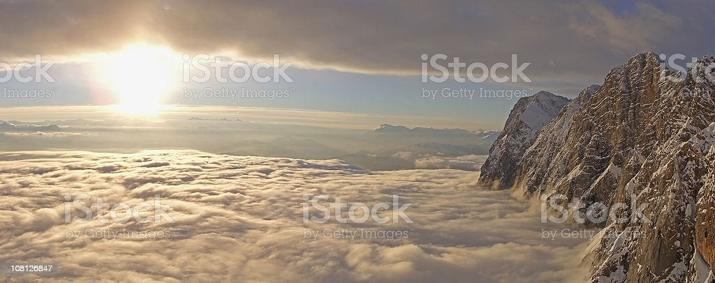Clouds over Dachstein at Sunset royalty-free stock photo
