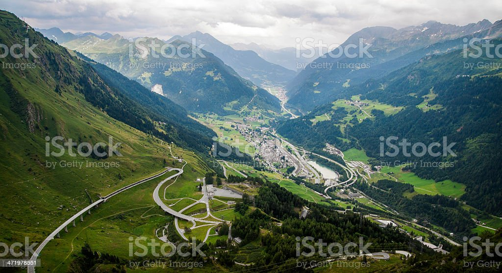 Clouds over Gotthard stock photo
