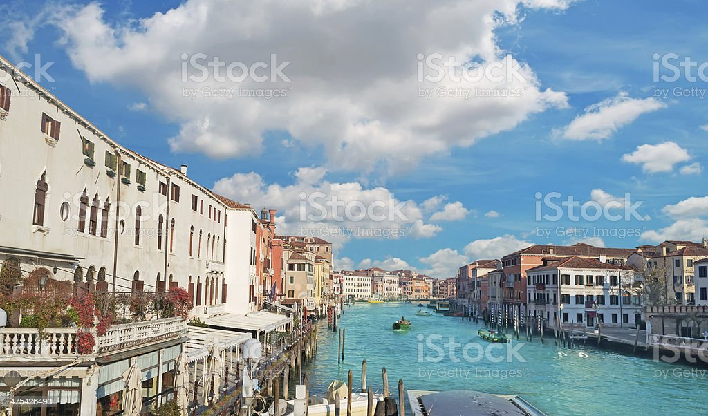 clouds over Grand Canal royalty-free stock photo