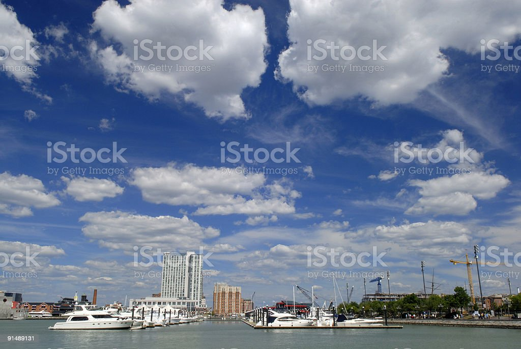 Clouds over Inner Harbor royalty-free stock photo