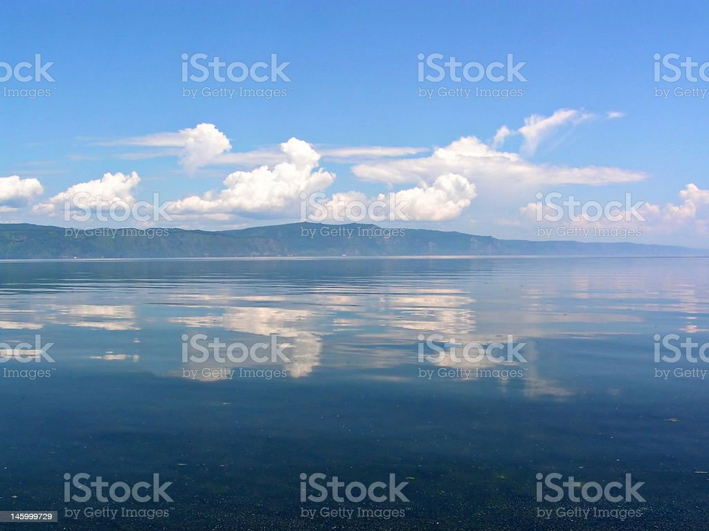 Clouds over lake Baikal royalty-free stock photo
