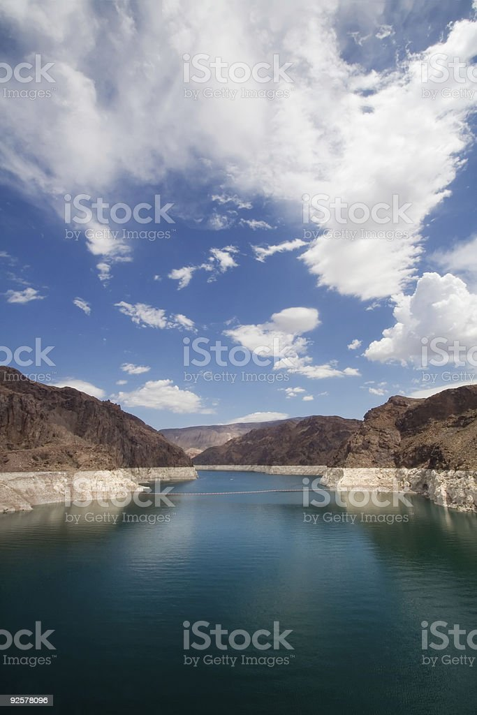 Clouds Over Lake Meade stock photo