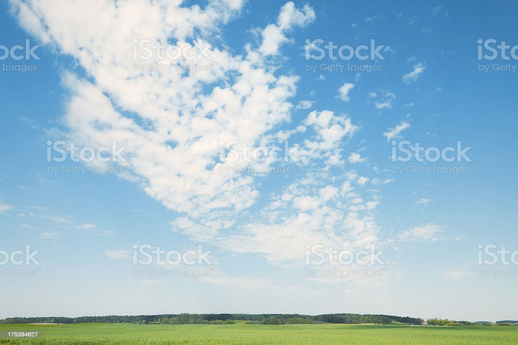 Clouds over landscape royalty-free stock photo